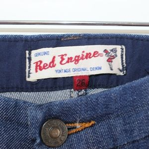 Red Engine Jeans - 💘RED ENGINE TROUSER JEAN DARK WASH FLARE 26